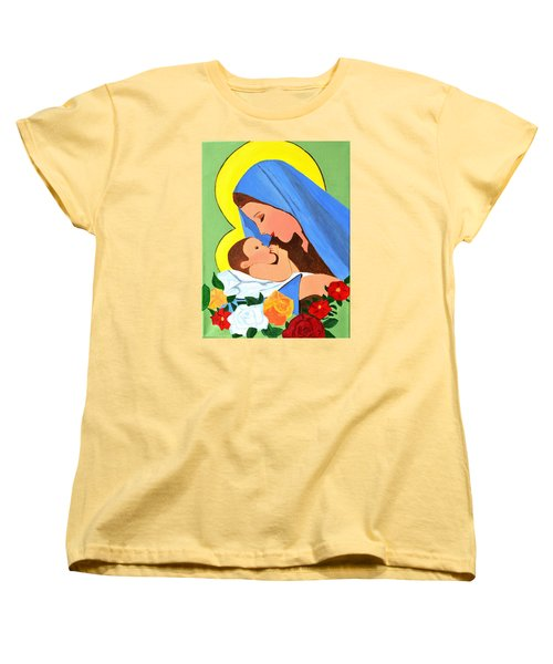 Maria And Baby Jesus Women's T-Shirt (Standard Cut) by Magdalena Frohnsdorff