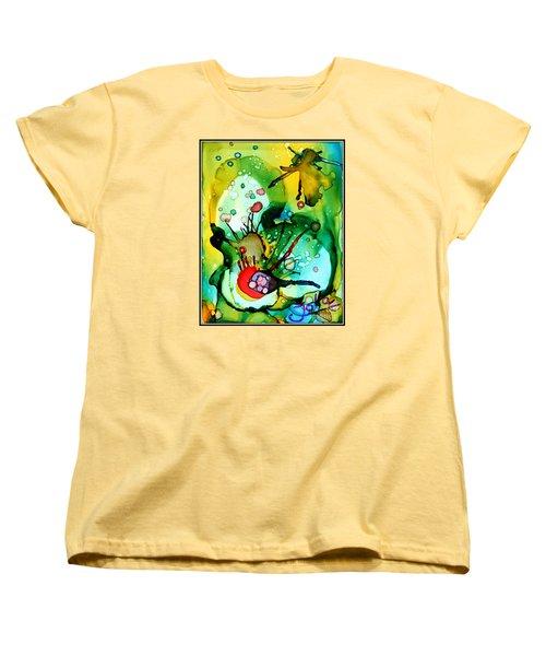 Marine Habitats Women's T-Shirt (Standard Cut) by Jolanta Anna Karolska