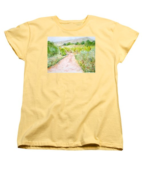 Medjugorje Path To Apparition Hill Women's T-Shirt (Standard Cut) by Vicki  Housel
