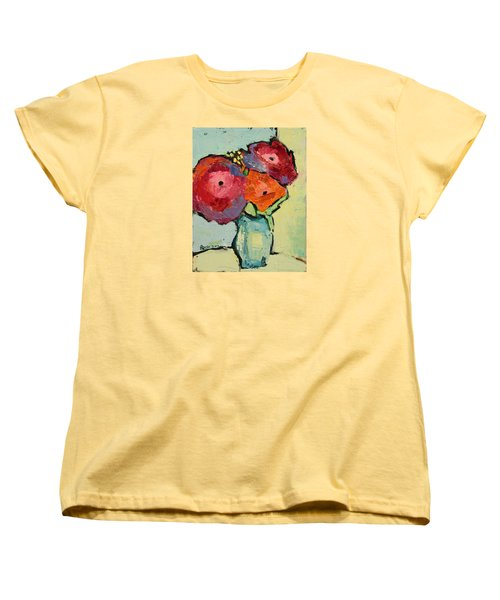 Women's T-Shirt (Standard Cut) featuring the painting Melody Of Love by Becky Kim