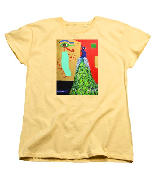 Women's T-Shirt (Standard Cut) featuring the painting Messages by Ana Maria Edulescu