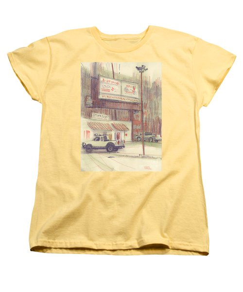 Women's T-Shirt (Standard Cut) featuring the painting Mexican Take Out by Donald Maier