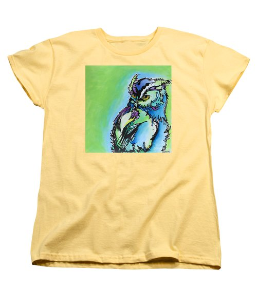 Women's T-Shirt (Standard Cut) featuring the painting Million Dollar Man by Nicole Gaitan