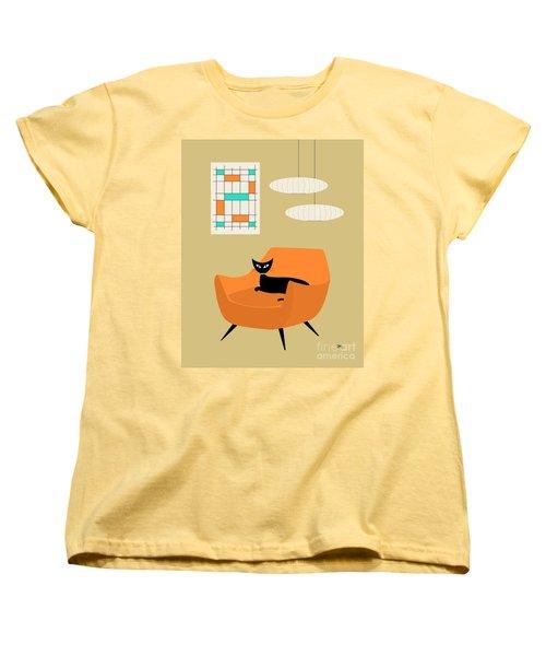 Mini Abstract With Orange Chair Women's T-Shirt (Standard Cut)