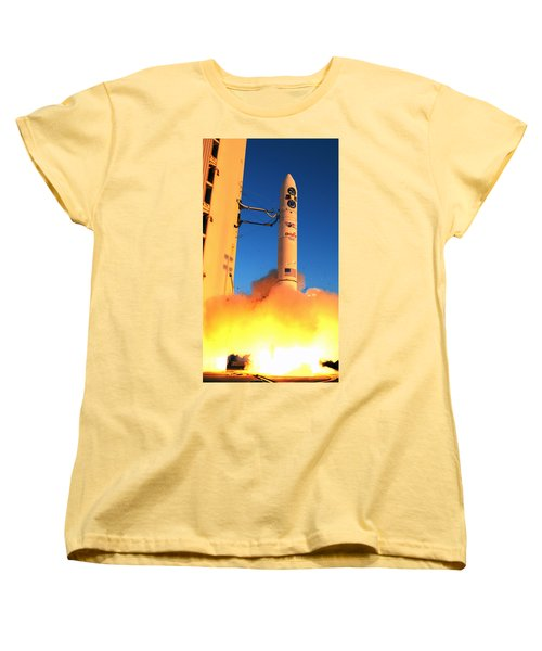 Minotaur Iv Rocket Launches Falconsat-5 Women's T-Shirt (Standard Cut) by Science Source