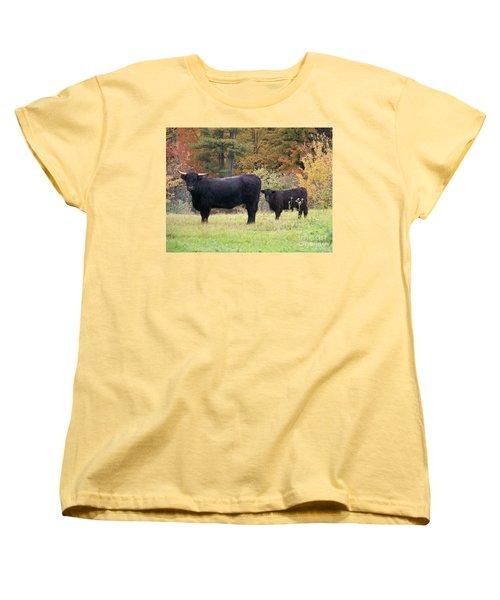 Women's T-Shirt (Standard Cut) featuring the photograph Highland Cattle  by Eunice Miller