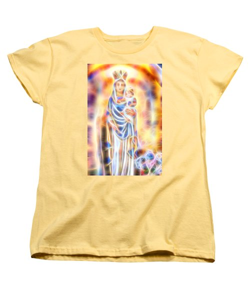 Women's T-Shirt (Standard Cut) featuring the painting Mother Of Light by Dave Luebbert