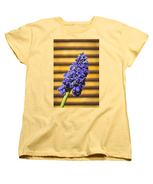 Women's T-Shirt (Standard Cut) featuring the photograph Muscari And Rust by Caitlyn  Grasso