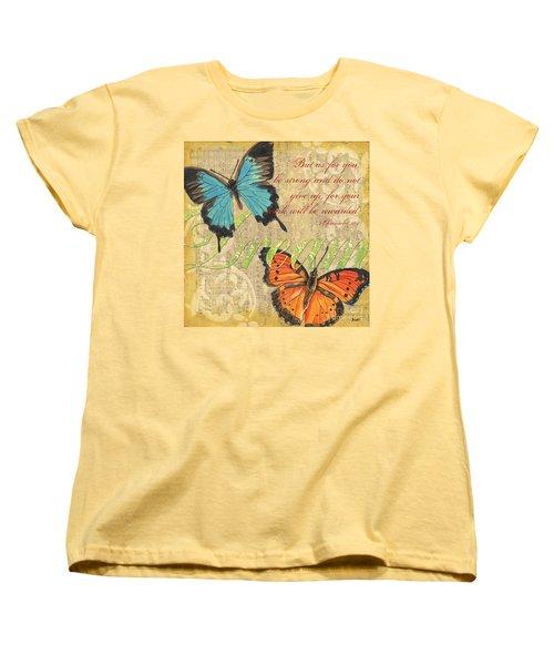 Musical Butterflies 1 Women's T-Shirt (Standard Cut) by Debbie DeWitt