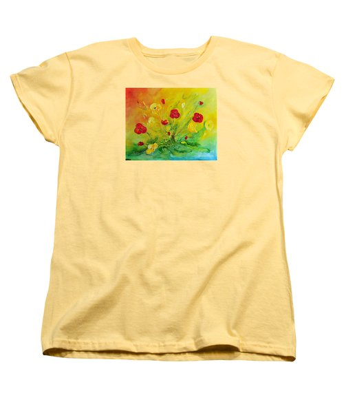 Women's T-Shirt (Standard Cut) featuring the painting My Favourite by Teresa Wegrzyn