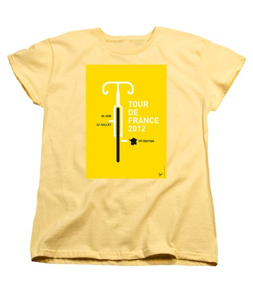 My Tour De France 2012 Minimal Poster Women's T-Shirt (Standard Cut)