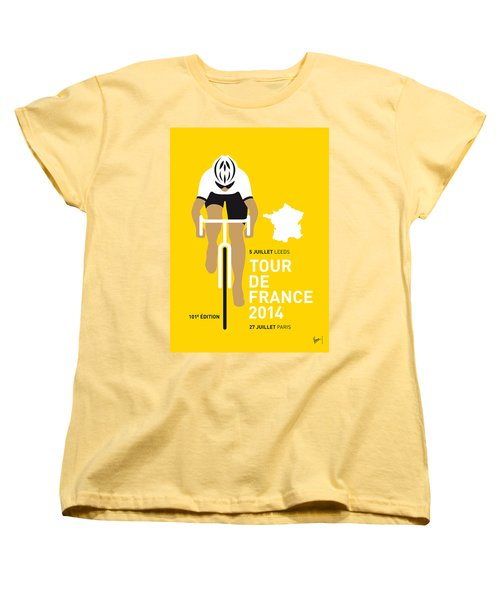 My Tour De France Minimal Poster 2014 Women's T-Shirt (Standard Cut)