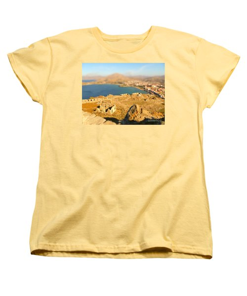 Women's T-Shirt (Standard Cut) featuring the photograph My Toy Castle by Vicki Spindler