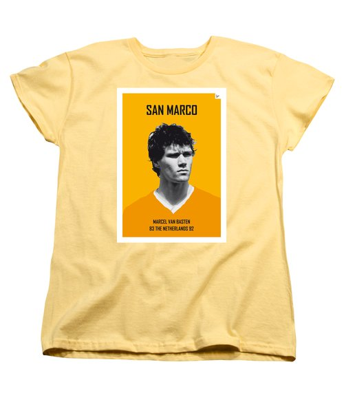 My Van Basten Soccer Legend Poster Women's T-Shirt (Standard Cut) by Chungkong Art