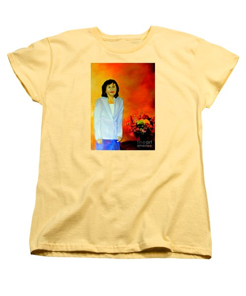 Women's T-Shirt (Standard Cut) featuring the painting My Wife by Jason Sentuf