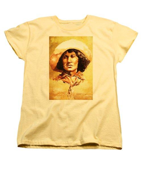 Nat Love Bronc Buster Women's T-Shirt (Standard Cut) by Al Brown