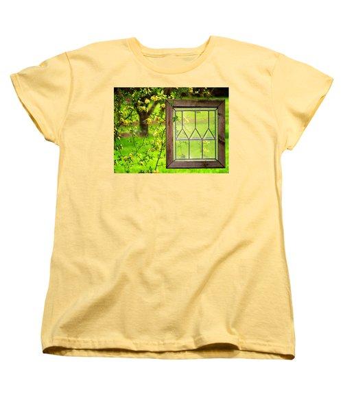 Women's T-Shirt (Standard Cut) featuring the photograph Nature's Window by Greg Simmons