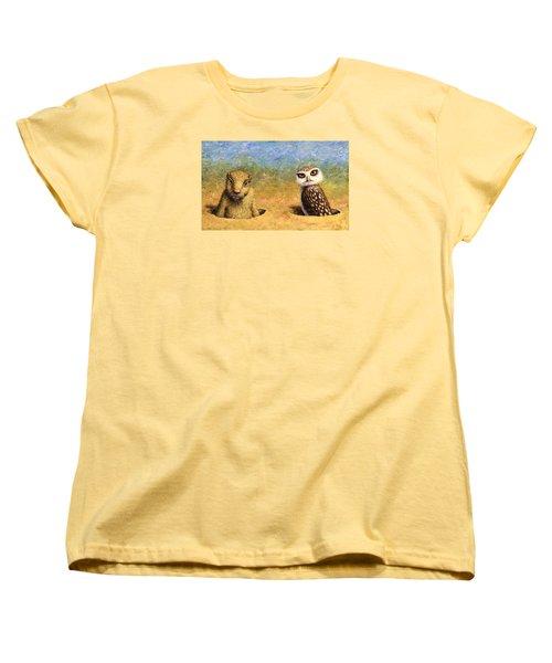 Neighbors Women's T-Shirt (Standard Cut) by James W Johnson