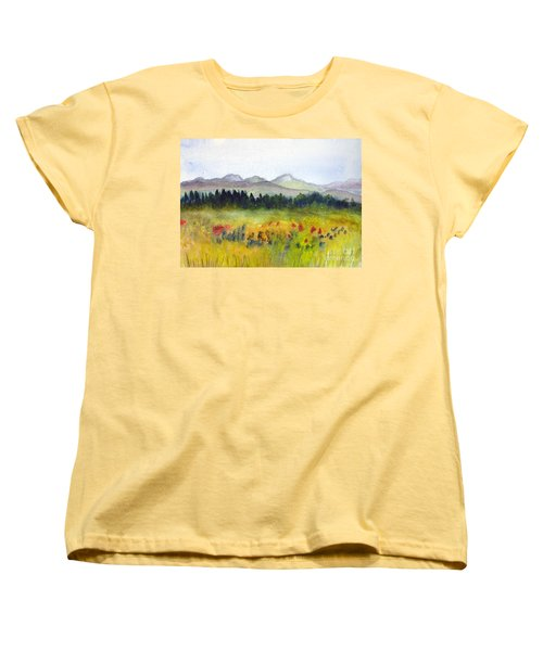 Nek Mountains And Meadows Women's T-Shirt (Standard Cut) by Donna Walsh