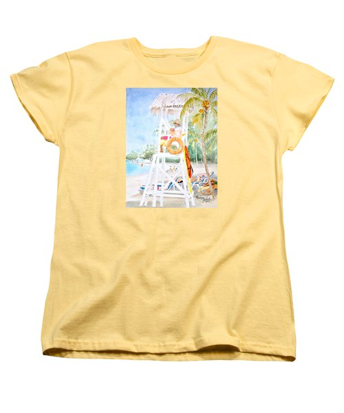 Women's T-Shirt (Standard Cut) featuring the painting No Problem In Jamaica Mon by Marilyn Zalatan