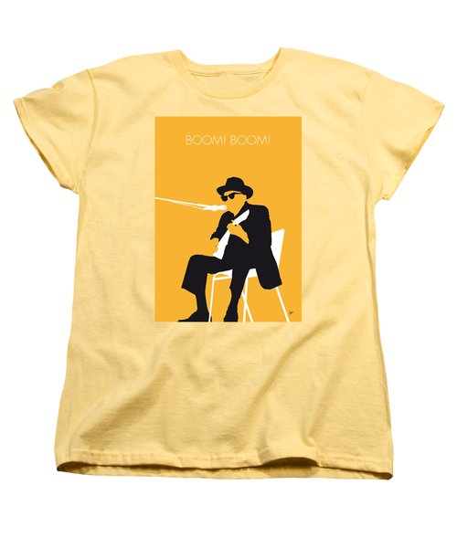 No054 My Johnny Lee Hooker Minimal Music Poster Women's T-Shirt (Standard Cut) by Chungkong Art