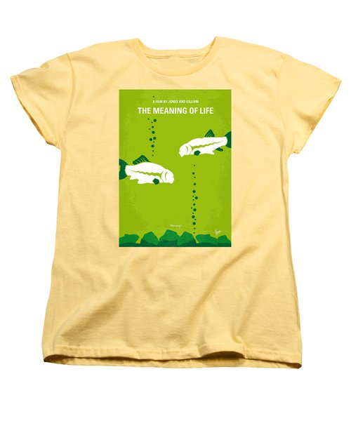 No226 My The Meaning Of Life Minimal Movie Poster Women's T-Shirt (Standard Cut) by Chungkong Art