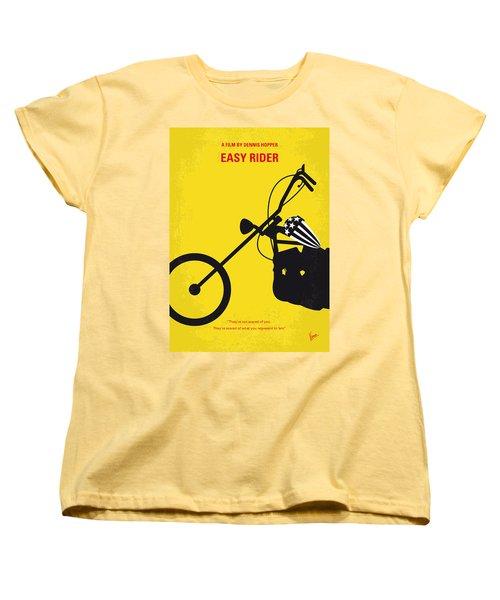No333 My Easy Rider Minimal Movie Poster Women's T-Shirt (Standard Cut) by Chungkong Art