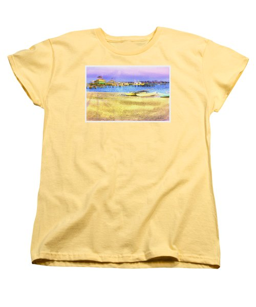 Coastal - Beach - Boats - Ocean Front Property Women's T-Shirt (Standard Cut) by Barry Jones