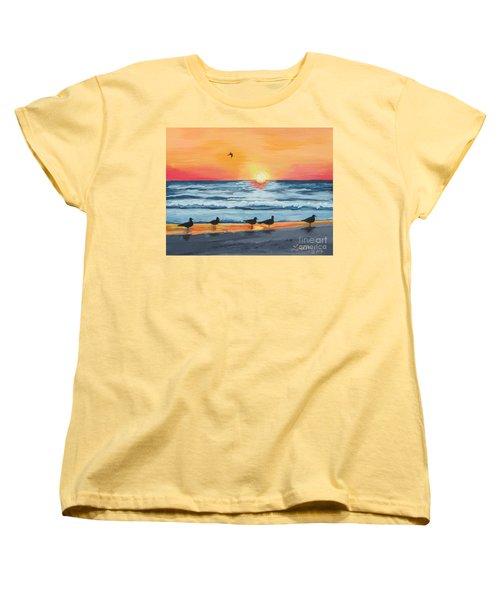 October Sunset On Siesta Key Florida Women's T-Shirt (Standard Cut)