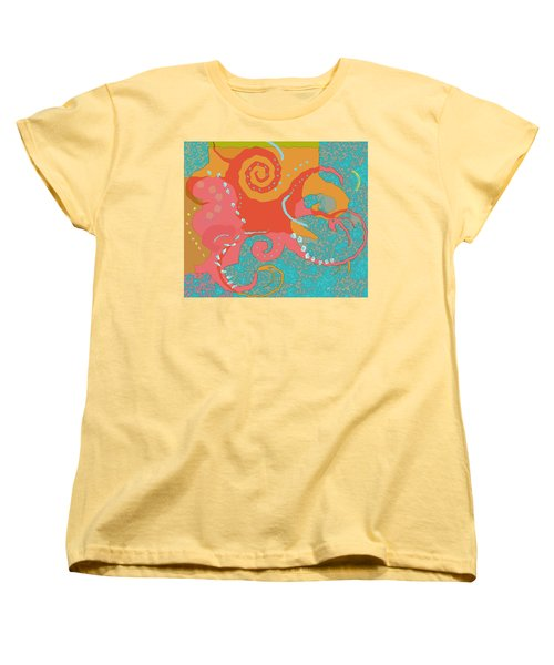 Octopus 1 Women's T-Shirt (Standard Cut) by David Klaboe