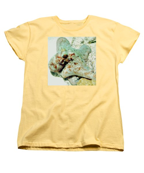 Women's T-Shirt (Standard Cut) featuring the photograph Octopus On The Reef by Amy McDaniel