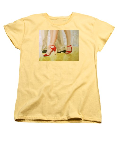 Women's T-Shirt (Standard Cut) featuring the painting Oh Those Red Shoes by Keith Thue