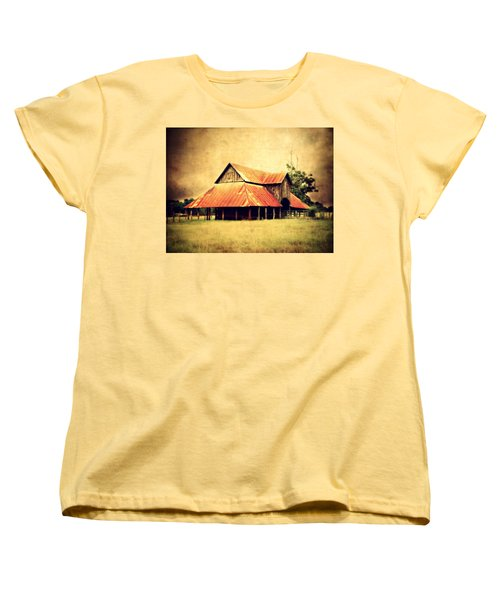 Old Texas Barn Women's T-Shirt (Standard Cut) by Julie Hamilton