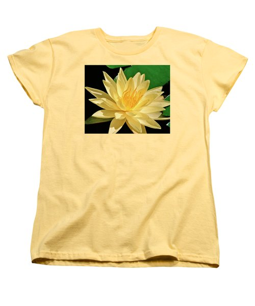 One Water Lily  Women's T-Shirt (Standard Cut) by Ed  Riche