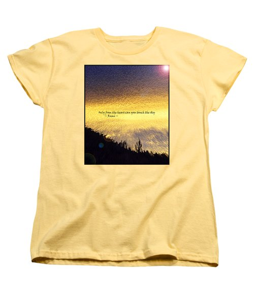 Only From The Heart Women's T-Shirt (Standard Cut) by Anne Mott