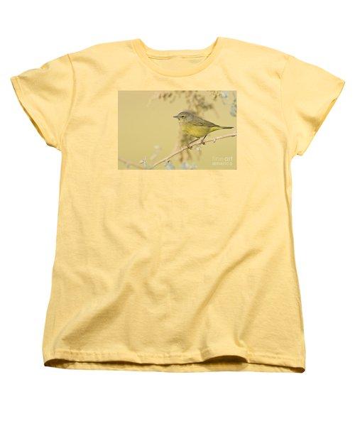Orange Crowned Warbler Women's T-Shirt (Standard Cut) by Bryan Keil