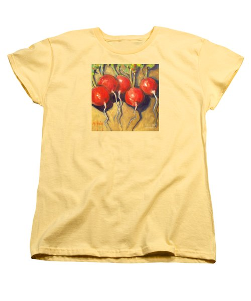 Organic Radishes Still Life Women's T-Shirt (Standard Cut) by Mary Hubley