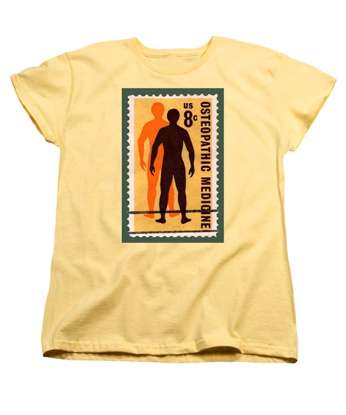 Osteopathic Medicine Stamp Women's T-Shirt (Standard Cut) by Phil Cardamone