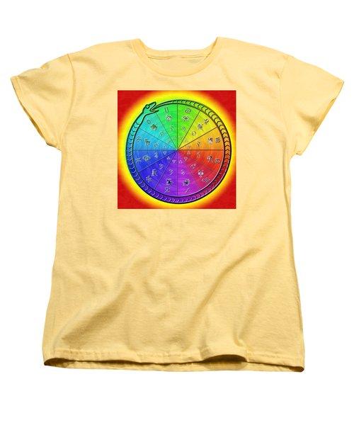 Ouroboros Alchemical Zodiac Women's T-Shirt (Standard Cut) by Derek Gedney