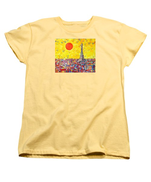 Paris In Sunlight Women's T-Shirt (Standard Cut) by Ana Maria Edulescu