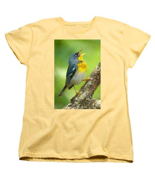 Parula Song Women's T-Shirt (Standard Cut) by David Beebe