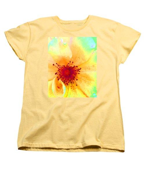 Pastel Garden Women's T-Shirt (Standard Cut) by Charlotte Schafer