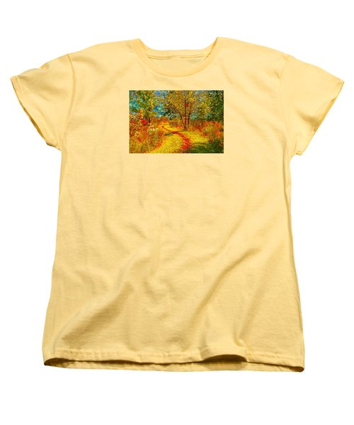 Path Through The Woods Women's T-Shirt (Standard Cut) by William Beuther