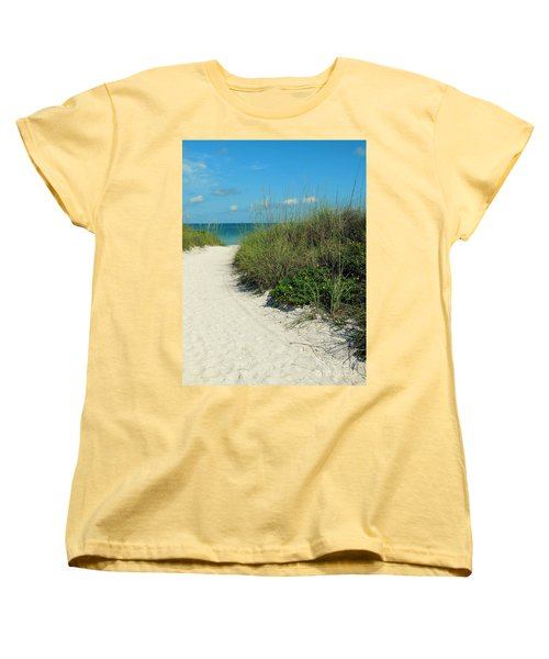 Path To Pass -a- Grille Women's T-Shirt (Standard Cut) by Valerie Reeves