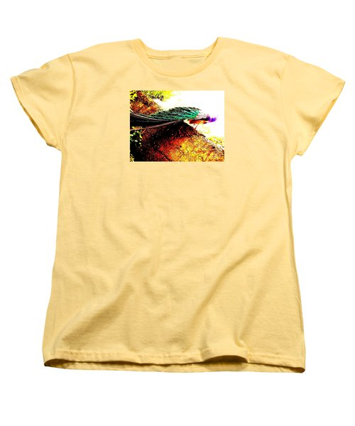 Women's T-Shirt (Standard Cut) featuring the photograph Peacock Tail by Vanessa Palomino