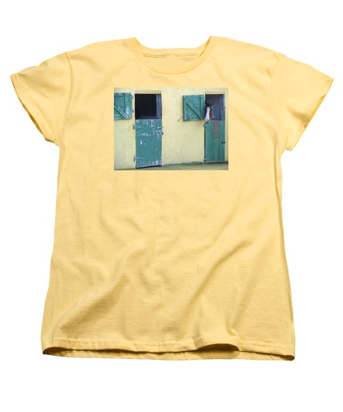 Women's T-Shirt (Standard Cut) featuring the photograph Peekaboo by Suzanne Oesterling