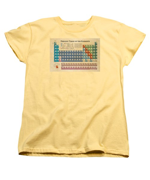 Periodic Table Of The Elements Women's T-Shirt (Standard Cut) by Olga Hamilton
