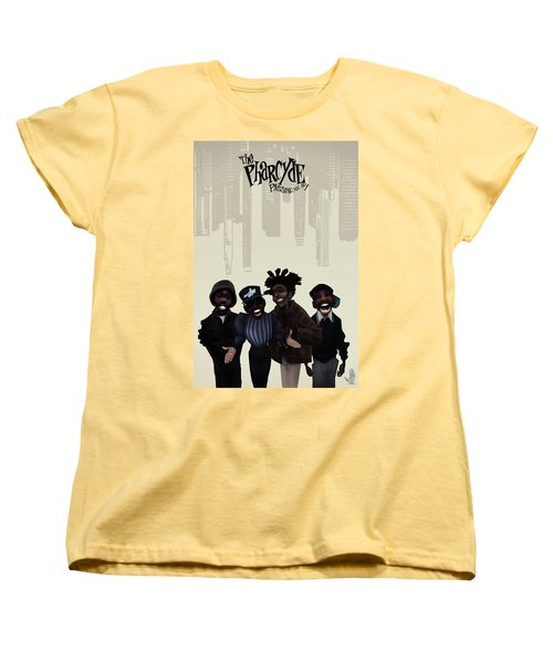 Women's T-Shirt (Standard Cut) featuring the drawing Pharcyde -passing Me By 1 by Nelson dedos Garcia
