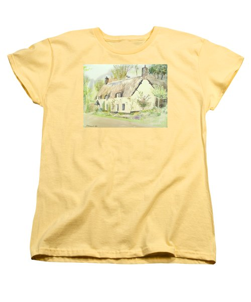 Picturesque Dunster Cottage Women's T-Shirt (Standard Cut) by Martin Howard