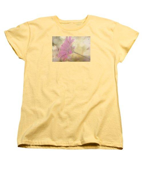 Women's T-Shirt (Standard Cut) featuring the photograph Pink Textured Gazania by Sandra Foster